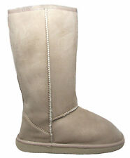 Womens Casual Outfitters Tan Beige Sherpa Microsuede Mid-Calf Boots Size 5-10