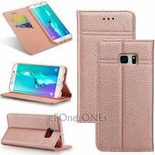 Magnetic S7 Real Leather Wallet Flip stand case cover for Samsung Galaxy Models