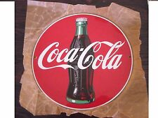 NEW CONDITION HEAVY ENAMEL 1990 COCA COLA  PORCELAIN  SIGN 11 x 6.1/4  INCHES