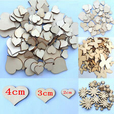 50Pcs Mixed Sizes Butterfly Flower Heart Wood Buttons Fitted Scrapbooking Sewing