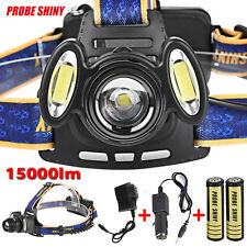 15000LM 3x XML T6 Rechargeable Headlamp Head Light Torch USB Lamp +18650+Charger