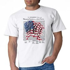 Patriotic T Shirt In Congress July 4 1776 USA American Flag Mens