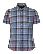 Henri Lloyd Men's Oving Short Sleeve Regular Check Shirt - Navy