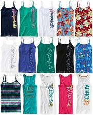 AEROPOSTALE WOMENS CAMI TANK TOP GRAPHIC SEQUIN GLITTER FLORAL STRIPED T-SHIRT