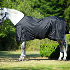 """66""""-90""""  BACK ON TRACK HORSE WATERPROOF 1680D THERAPEUTIC TURNOUT SHEET BLACK"""