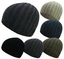Adults Unisex Fashion Ribbed Skull Ski Beanie Acrylic Winter Hats Cold Autumn