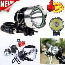 5000LM CREE XM-L T6 LED Bike Head Light Bicycle Headlamp Rechargeable Light free