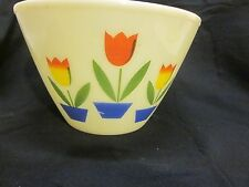 Vintage Fire king LARGE 9.5 inch Tulip mixing bowl.