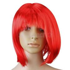 New Fashion Short Punk Bob Full Wig Costume Cosplay Party Bright Violet/Red
