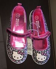 NEW Hello Kitty Girls Sz 1, 3, 4 SPARKLY MaryJanes Pink Shoes