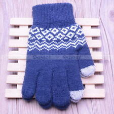 Touch Screen Gloves Women Girl Stretch Knit Mittens Winter Warm Gloves Gift