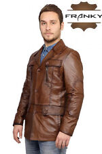 Franky Safari Stylish Genuine Lamb Skin Leather Jacket F15