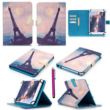 """LiYB Eiffel Tower Wallet Leather Flip Case Cover For 7"""" 8"""" 8.4"""" 10"""" 10.1"""" Tablet"""