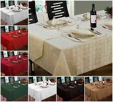 New Jacquard Hampton Tablecloths, Napkins, Runners & Placemats Black Silver Red
