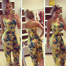 Casual Women Lady Summer Floral Playsuit Bodycon Party Jumpsuit Romper Trousers
