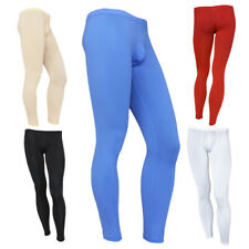 M-XL Sexy Mens Smooth Low Rise Bulge Pouch Long Johns Trousers Pants Underwear