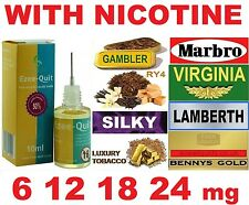 6 12 18 24mg NICOTINE 10ml EZEE QUIT TOBACCO E JUICE LIQUID E CIG ELIQUID EJUICE