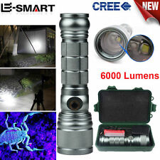 3 Mode Zoom CREE T6/Q5 LED Super Bright Adjustable Focus Flashlight Torch Lamp