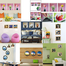 Set 3 Wall Sticker Vinyl Decals 3D Picture Removable Home Room Decor Tile Mural