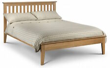 Solid American White Oak Bed Frame or Stone White or Two Tone Bedstead