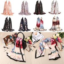 Women Painting and Floral Pattern Long Soft Casual Digital Printed Shawl Scarf