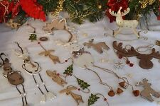 Shabby Chic Shabby Chic wooden Reindeer Rudolph Christmas tree decorations