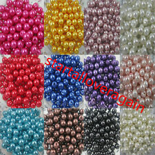 Wholesale Czech Glass Pearl Round Spacer Loose Beads 4MM/6MM/8MM/10MM-100/200Pcs
