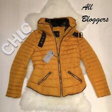 ZARA �� SOLD OUT �� NEW SS17 MUSTARD SHORT ANORAK COAT �� SIZE L �� Ref 8073/226