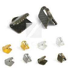 20-90pcs Ribbon Crimp Ends Connectors Necklace Bracelet Jewelry Crafts Findings