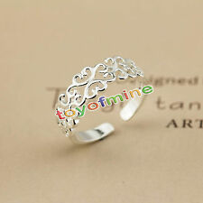 925 Sterling silver plated ring Women Fashion jewelry Wholesale size OPEN J10