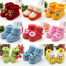 Newborn Baby Infant Boys Girls Crochet Knit Booties Casual Crib Shoes Boots UK
