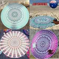 Indian Round Mandala Tapestry Roundie Throw Blanket Hippie Beach Towel Yoga Mat