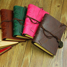 Classic Vintage Retro Leather Journal Travel Notepad Notebook Blank Diary New