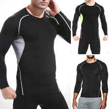 S-2XL Mens Long Sleeve Compression Tight Sport Running Tops Athletic T-Shirt New