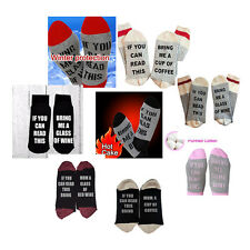 "Unisex ""If You Can Read This Bring Me A Glass Of Wine"" Funny Sport Xmas Socks"