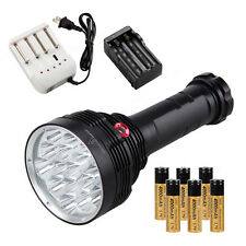 SKYRAY 20000Lm 16x XM-L T6 LED Tactical Flashlight Clamping Torch 6x 18650 Lamp