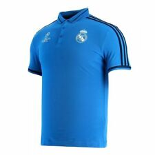 adidas Real Madrid UEFA Champions League Polo Shirt Mens Blue Football Soccer