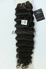 120g 16''~26'' Deep Weft Hair Curly Weaving Real Human Hair Extensions Off black