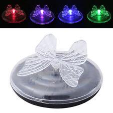 Solar Power LED RGB Color Change Floating Float Night Light Path Pool Pond Lamp