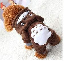 Totoro Hoodie Costume Dog Clothes Pet Jacket Coat Puppy Cat Apparel Winter Warm