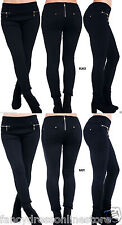 New Women's Ladies Girls Sexy Back Zip Skinny Jegging Leggings Jeans Trouser