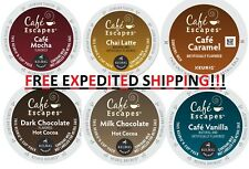 Cafe Escapes Coffee Keurig K-Cups PICK ANY FLAVOR & QUANTITY - NEW