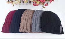 Fashion Mens Winter Warmer Hat Cashmere Woolen Knitted Colorful Hat Cap for Gift