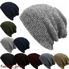 Unisex Men Women Hip Hop Warm Winter Wool Knit Ski Beanie Skull Slouchy Cap Hat
