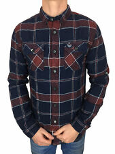 *SALE £38.50 Superdry Mens Refined Lumberjack Shirt in Navy Tundra Grindle Check