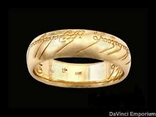 Lord of the Rings 14k Yellow Gold One Ring of Power