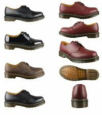 Dr Martens DM'S 1461 3 Hole Eyelet Mens Womens Leather Shoes Black Cherry Red