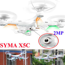 SYMA X5C 2.4GHz 4CH 6 Axis RC Quadcopter Drone With 2MP FPV Camera HD Video LED