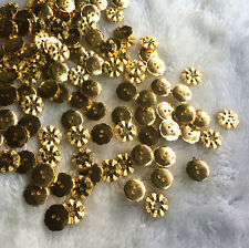 50/100pcs Gold Plastic Button 2 Holes Round DIY Scrapbooking Sewing Craft 12mm