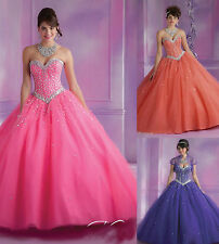 Strapless Sweetheart Formal Prom Ball Gown Quinceanera Wedding Evening Dresses